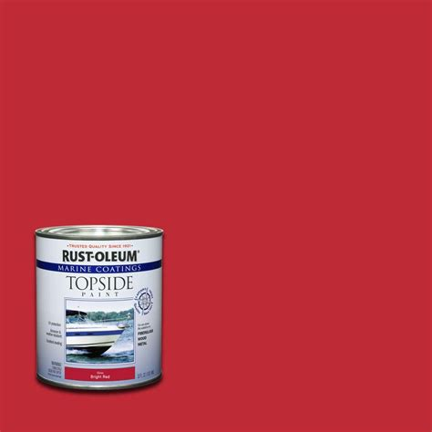 home depot paint quart rust oleum marine 1 qt gloss topside paint 207004