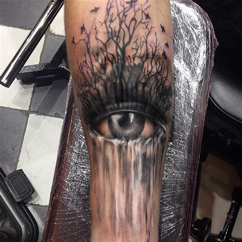 eye and waterfall tattoo made by me in port of call flickr