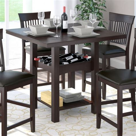 wine dining table corliving bistro counter height dining table with wine