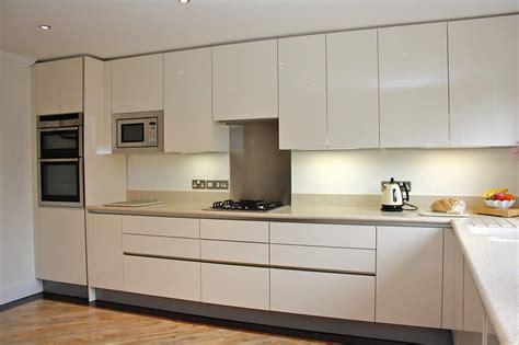 High Gloss Cream Acrylic Kitchens