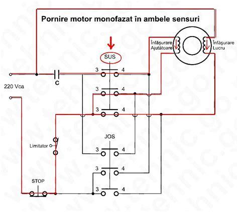 Motor Electric Monofazat Legaturi by Pornire Motor Monofazat In Ambele Sensuri