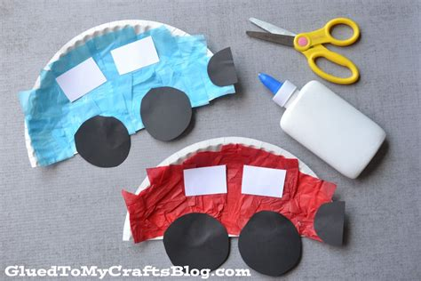 crafts with paper plates paper plate cars kid craft