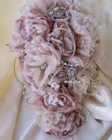 shabby chic bouquet vintage inspired shabby chic fabric wedding bouquet
