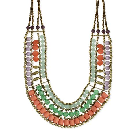 cheap bead necklaces wholesale pastel bead bib necklace zad fashion costume