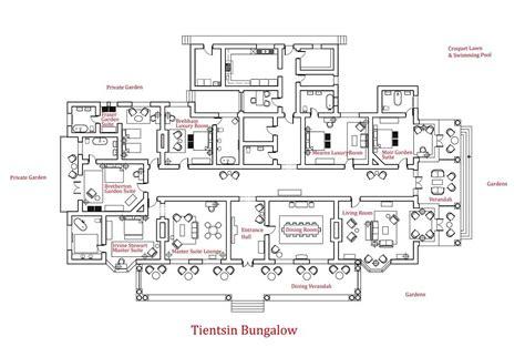 large bungalow house plans tientsin bungalow house floor plans large size