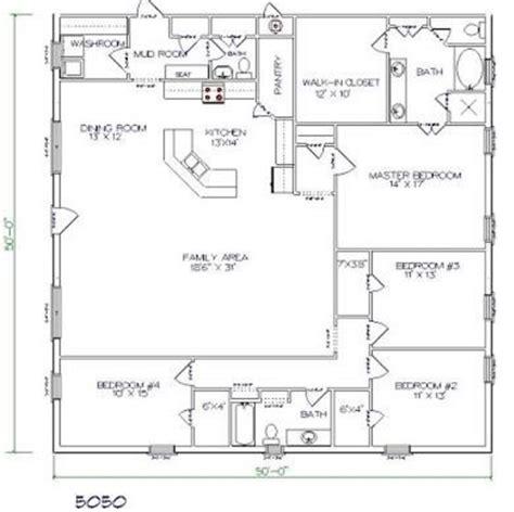 4 bed 2 bath floor plans top 20 metal barndominium floor plans for your home