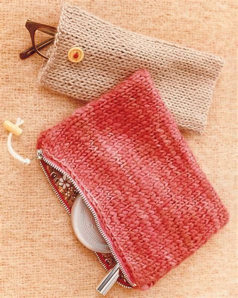 martha stewart knitting knit pouches martha stewart