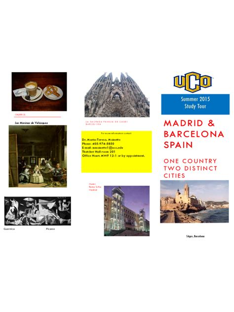 spain travel brochure template 3 free templates in pdf