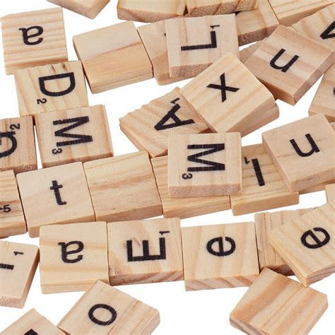 wooden scrabble tiles for crafts 100 wooden alphabet scrabble black letters numbers for
