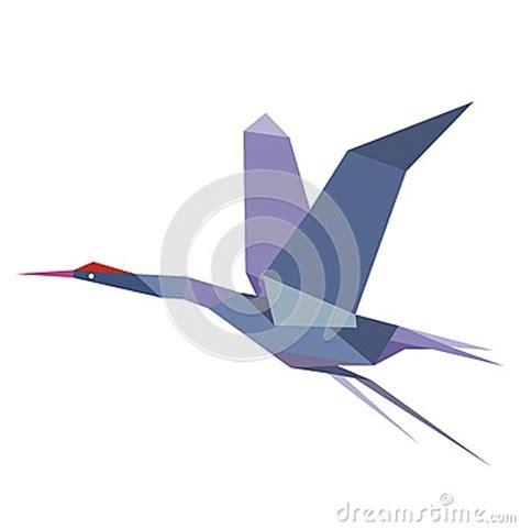 origami flying crane origami flying crane or heron stock vector image