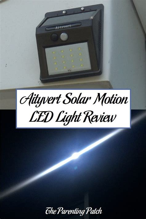 solar powered lights review aityvert solar powered motion led light review parenting