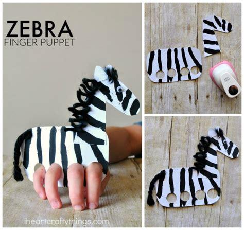 zebra craft for galloping finger puppet zebra craft i crafty things