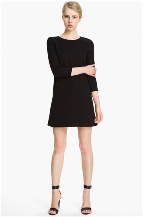 knit shift dress tibi ponte knit shift dress in black lyst