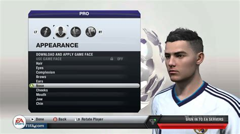 fifa 14 all hairstyles fifa 13 how to make your virtual pro look like cristiano