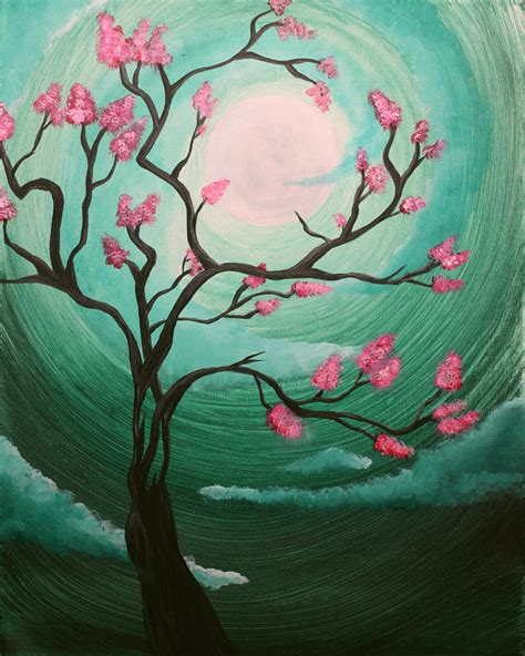 acrylic painting cherry blossom cherry blossom painting by keen