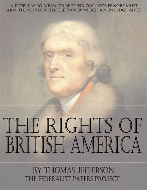 a picture book of jefferson a summary view of the rights of america by