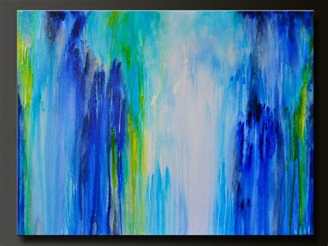 acrylic paint drip downpour 40 x 30 abstract acrylic painting