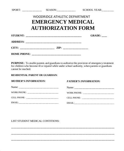 printable medical authorization form 9 free word pdf