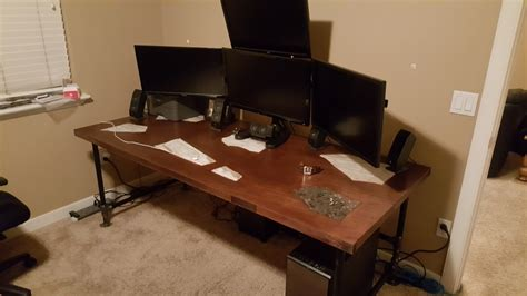 building computer desk diy computer desk use wood and plywood ideas