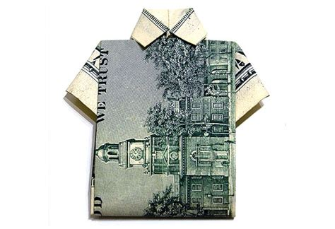 origami hawaiian shirt 50 spectacular origami designs made from money