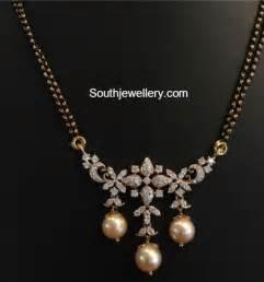 black gold chain models black mangalsutra chain models jewellery designs