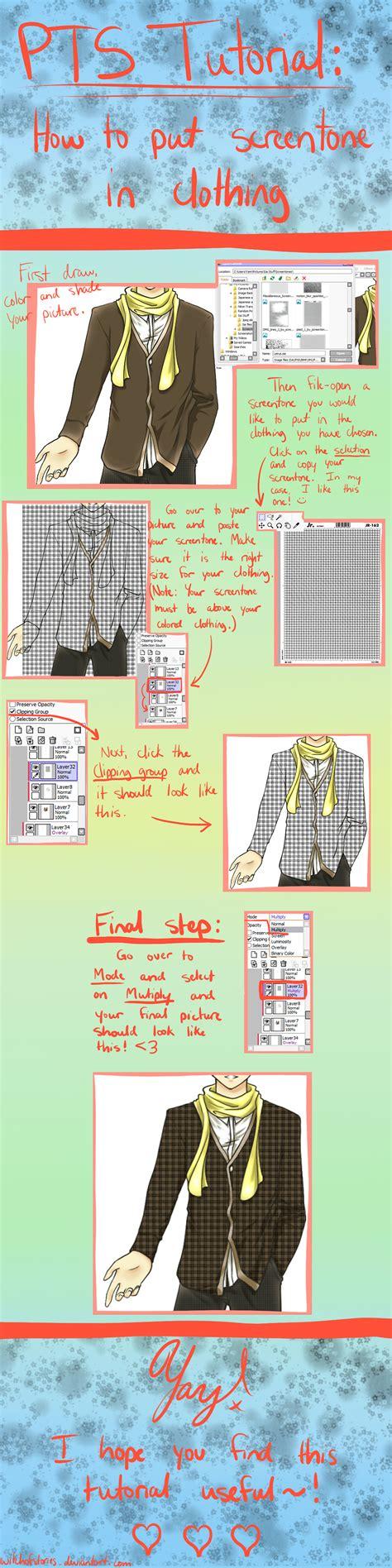 paint tool sai screentone paint tool sai tutorial screentones in clothing by