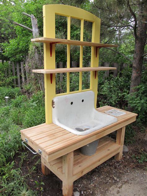 Gardening Workbench Montana Wildlife Gardener Repurposed Potting Bench