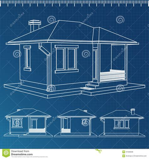 Create 3d Model Of Your House house blueprint royalty free stock image image 31569596
