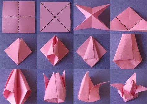 how to make easy origami flowers diy origami flowers step by step tutorials k4 craft