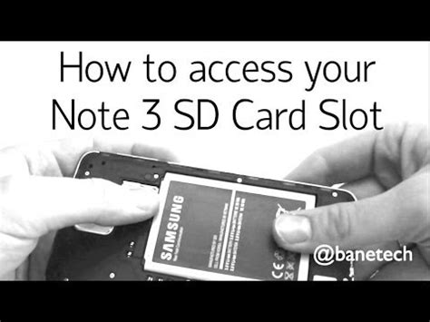 how to make sd card work again how to access your note 3 sd card slot