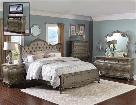 silver bedroom furniture sets homelegance florentina bedroom set silver gold 1867