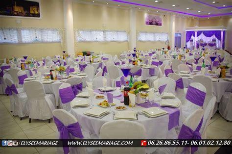 pr 233 sentation de d 233 coration couleur violet de la salle elys 233 e mariage