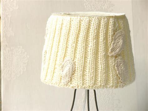 knitted light shade table l drum l shade knitted fabric embellished decor