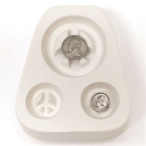 jewelry molds peace sign trio earring pendant jewelry mold delphi glass