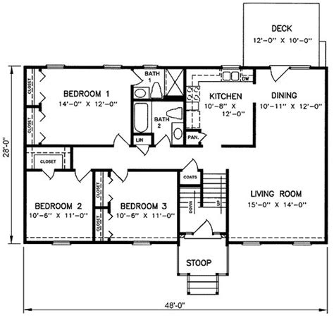 split level floor plan 1970s split level house plans split level house plan