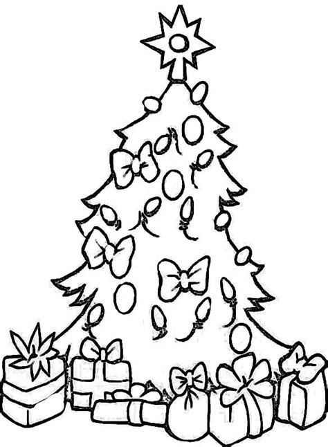 weihnachtsbaum zeichnen ausmalbilder zu weihnachten