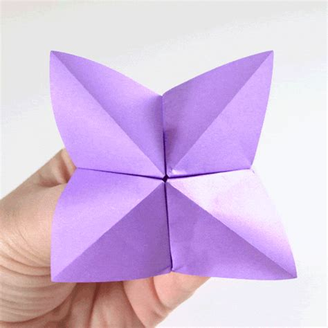 fortune tellers origami fold a fortune teller easy origami tutorial a