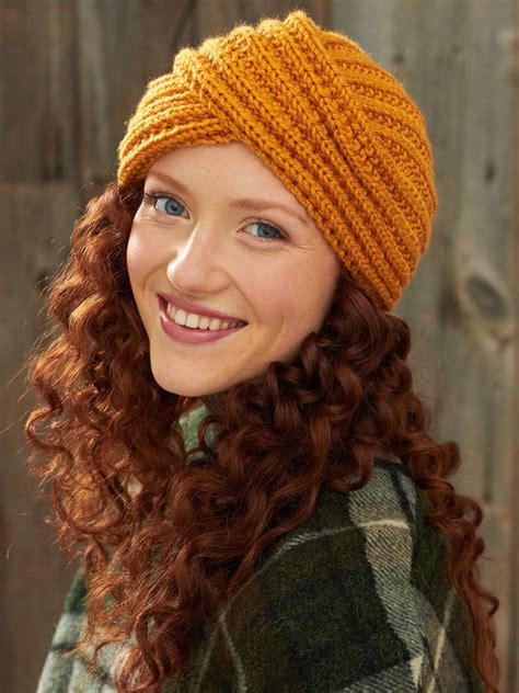 Bernat Turban Twist Hat Knit Pattern Yarnspirations