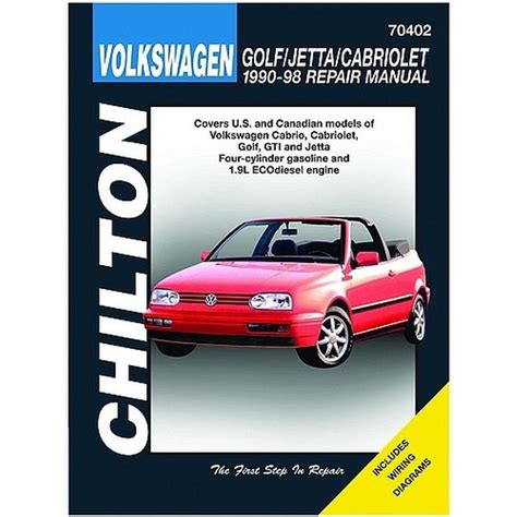 car repair manuals download 1998 volkswagen golf head up display chilton volkswagen golf jetta and cabriolet 1990 1998 repair manual northern auto parts