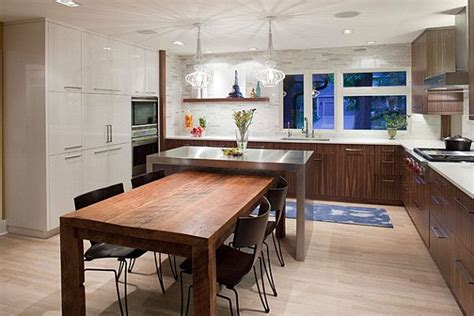 kitchen island table combo kitchen island table combination a practical and functional homesfeed