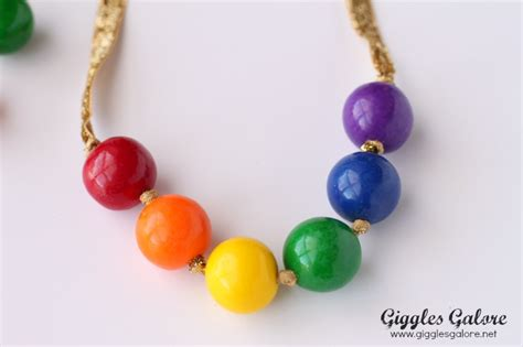 gumball necklace rainbow gumball necklace