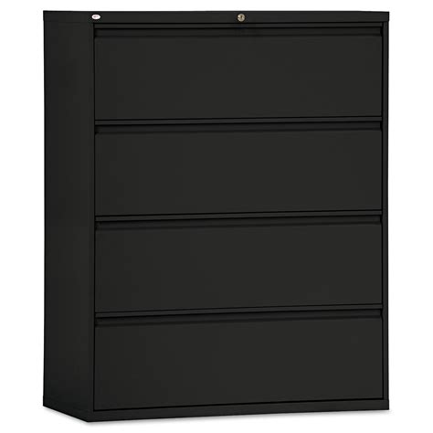 4 drawer lateral file cabinets four drawer lateral file cabinet by alera 174 alelf4254bl