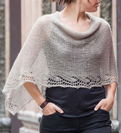 free knitted poncho patterns free knitting pattern for emilia poncho this lace edged
