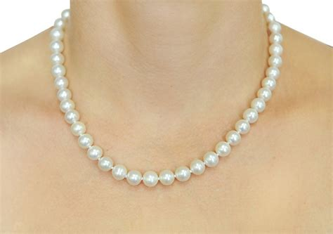 freshwater pearls for jewelry 14k gold 8 9mm white freshwater cultured pearl necklace