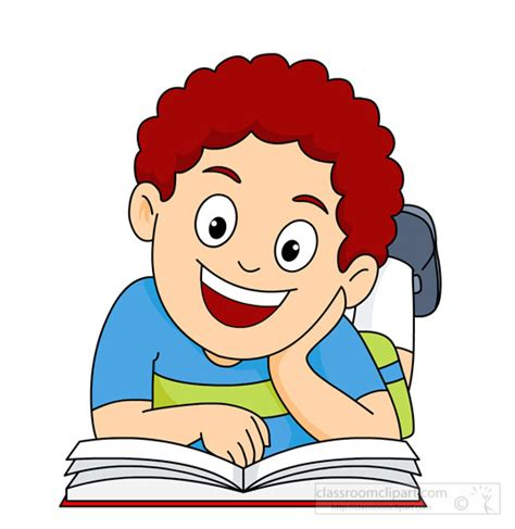 read free reading clipart happy to read a book classroom clipart