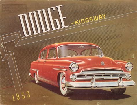 front page for a project 1953 dodge kingsway brochure
