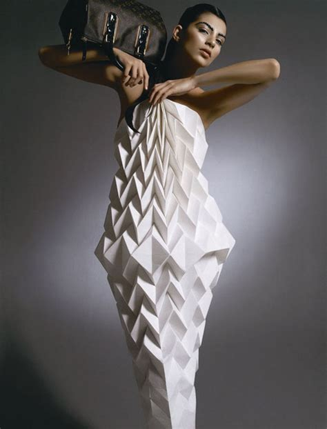 origami garments folded fashion