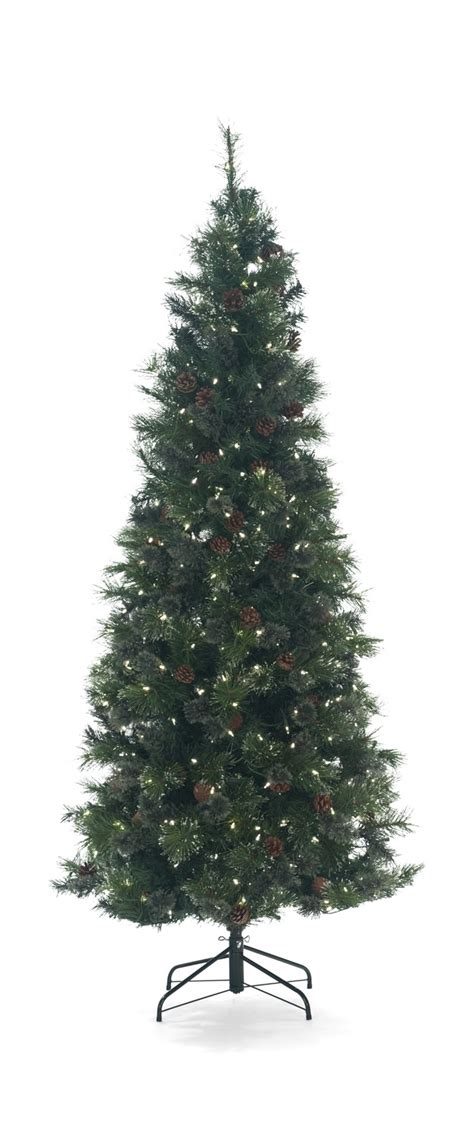 slim artificial trees with lights oregon pine 9 pre lit artificial tree with warm