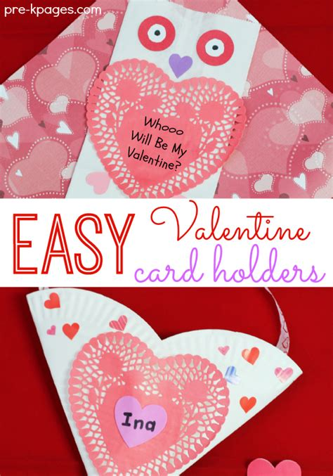 easy to make valentines cards easy card holders