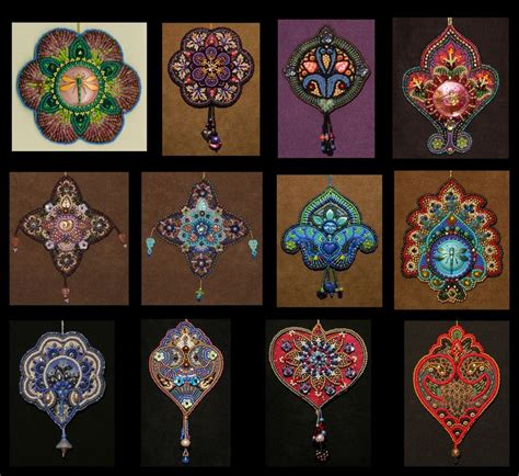 embroidery beading patterns bead embroidery projects five years of designs